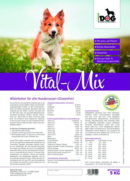 Natural Dog Vital-Mix MINI 1kg